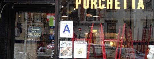 Porchetta is one of New York Magazine Cheap Eats '13.