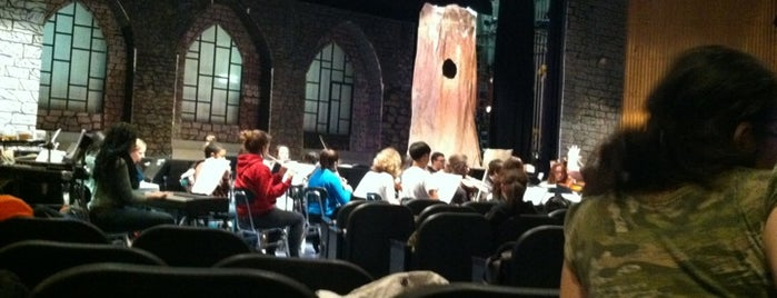 Camelot Rehearsal - Joseph Anzalone Theatre is one of school.