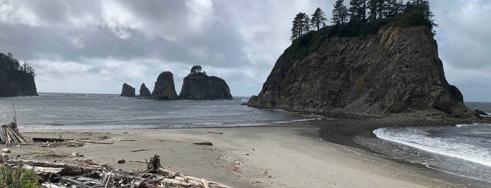 Rialto Beach is one of Washington Olympic Region.