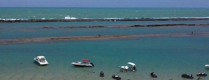 Praia Barra de São Miguel is one of Tempat yang Disukai Flavio.