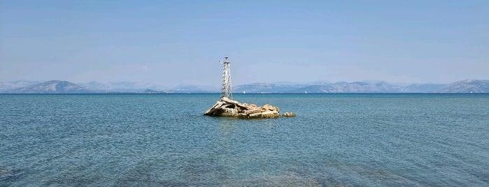 Lefkimi Lighthouse is one of Corfu, Greece.