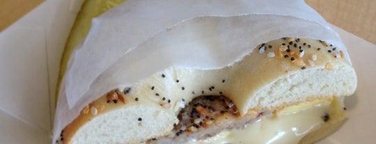 Alpine Bagel Cafe is one of Tempat yang Disukai h.