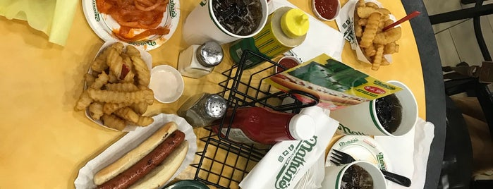 Nathan's Famous is one of New York food'n'booz.
