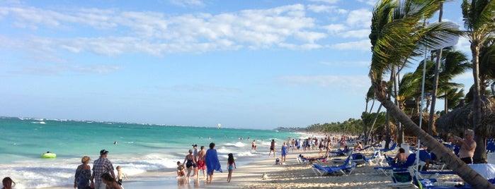 Grand Bahia Principe Beach is one of Tempat yang Disukai Mark.