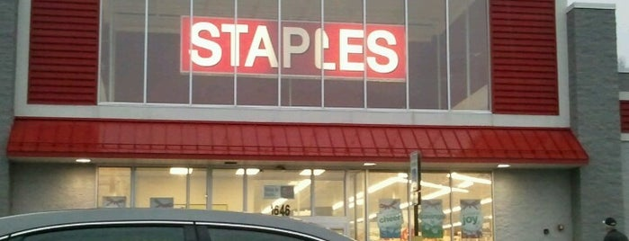 Staples is one of CeCe's Places.