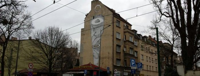 Mural na Sienkiewicza 14A is one of Murale festiwalu Outer Spaces w Poznaniu.