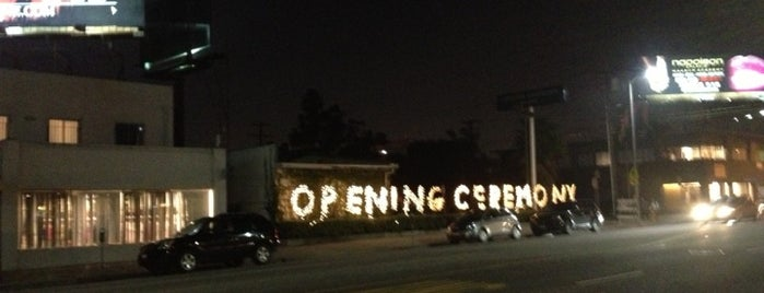 Opening Ceremony is one of Los Angeles List.