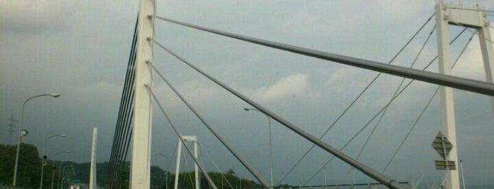 新尾道大橋 is one of 西瀬戸自動車道(しまなみ海道).