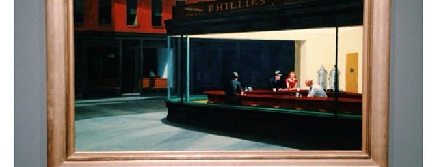 "Whitney Museum Installation: Edward Hopper ""Nighthawks"" is one of Lugares guardados de Michelle."