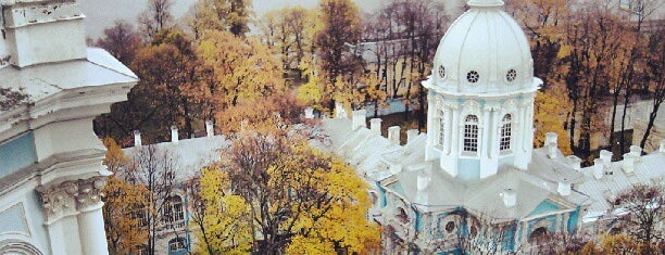 Smolny Cathedral is one of СПБ.