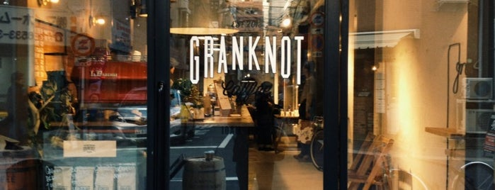 GRANKNOT coffee is one of Osaka.