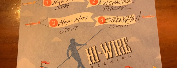 Hi-Wire Brewing Big Top Production Facility & Taproom is one of NC Craft Breweries.
