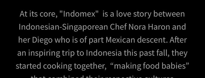 Indomex Pop-up is one of East Bay To-Do.