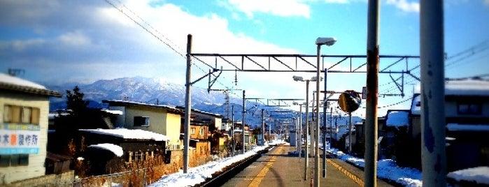 Uzen-Chitose Station is one of JR 미나미토호쿠지방역 (JR 南東北地方の駅).