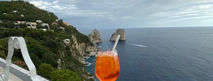 Capri Rooftop Lounge Bar is one of Tempat yang Disukai Veronika.