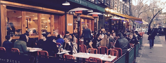 Bar Pitti is one of 6 NYC Places with Great Food and People Watching.