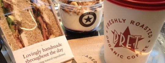 Pret A Manger is one of Calorie counting spots.