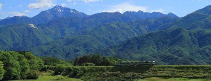 小淵沢大カーブ 撮影ポイント is one of Lugares favoritos de 高井.