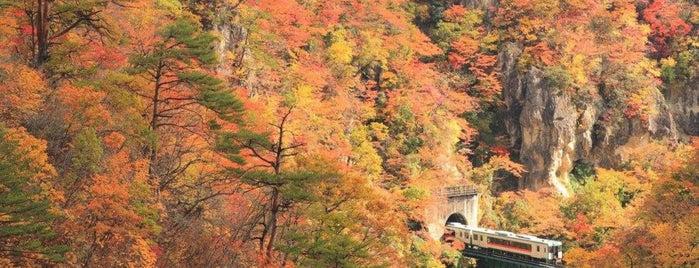 鳴子峡 is one of 高井 : понравившиеся места.