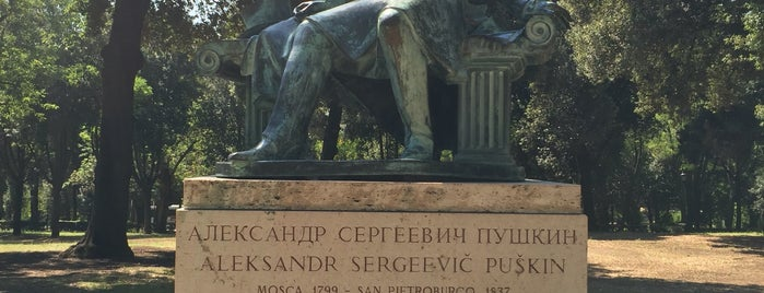 Monument to Alexander Pushkin is one of Roma.