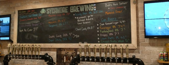 Sycamore Brewing is one of My Brewery List.