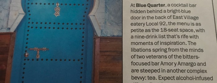 Blue Quarter is one of สถานที่ที่ Amanda ถูกใจ.