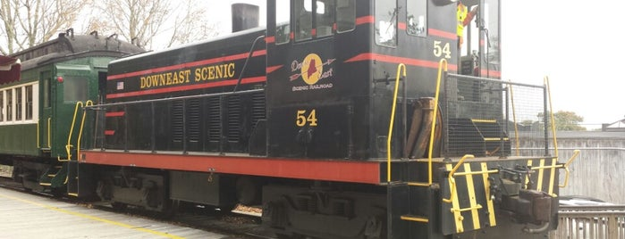 Downeast Scenic Railroad is one of Acadia.