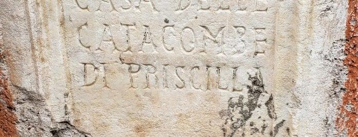 Catacombe di Priscilla is one of Locais curtidos por Andrew.
