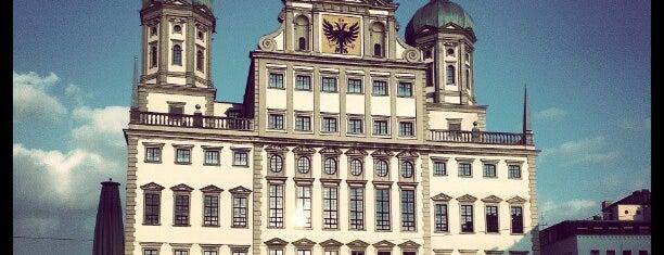 Rathausplatz is one of Augsburg.