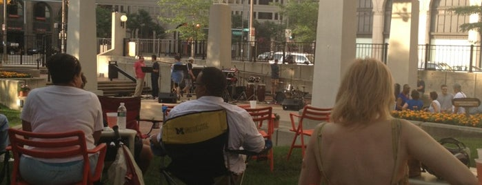 New Center Park is one of Best Detroit venues for a sunny day!.