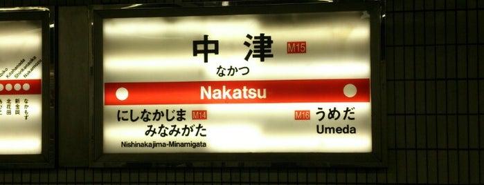 御堂筋線 中津駅 (M15) is one of i☮b •さんの保存済みスポット.