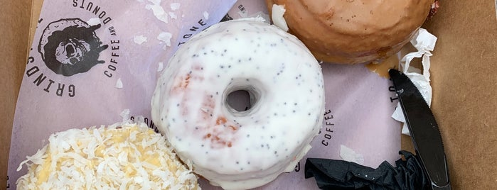 Grindstone Coffee & Donuts is one of Posti salvati di Christopher.