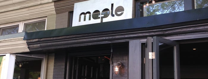 Maple is one of DC favorites.