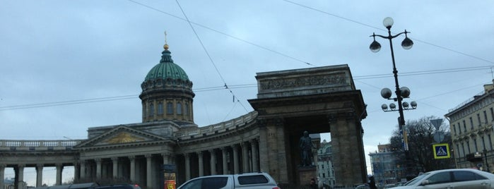 The Kazan Cathedral is one of St Petersburg.
