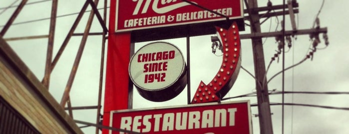Manny's Cafeteria & Delicatessen is one of Locais curtidos por T.