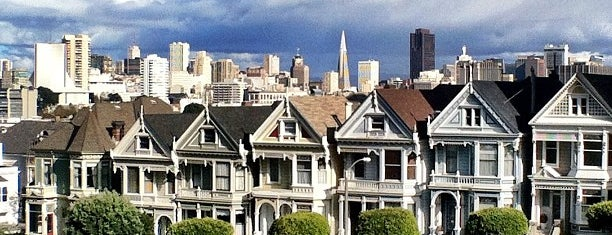 Alamo Square is one of San Fran-The City places to see.