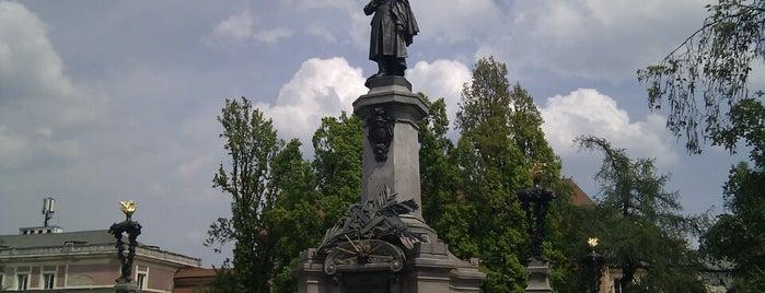 Pomnik Adama Mickiewicza is one of Warsaw.
