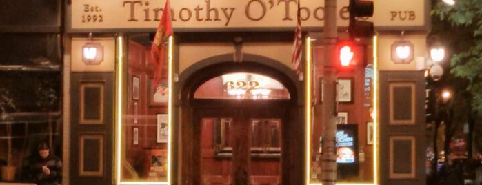 Timothy O'Toole's Chicago is one of United Mileage Plus Dining Spots.
