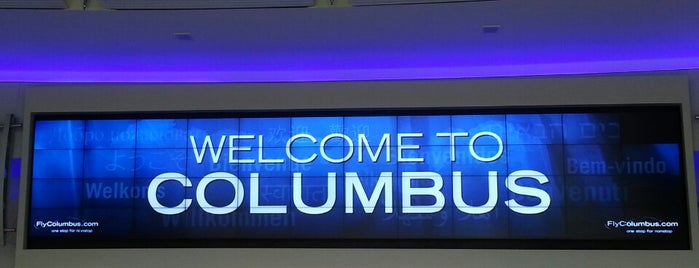 John Glenn Columbus International Airport (CMH) is one of Aeroporto.
