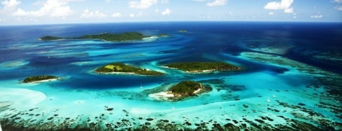 Tobago Cay Marine Park is one of Saint Vincent and the Grenadines.