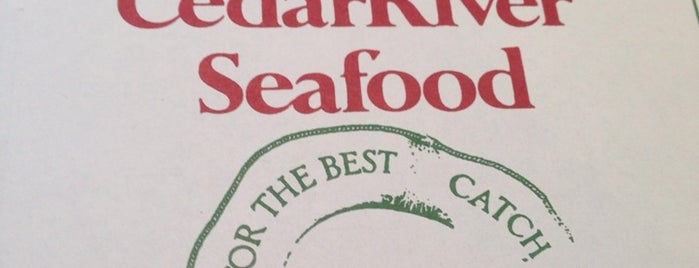 Cedar River Seafood is one of Places I Go when I Travel.