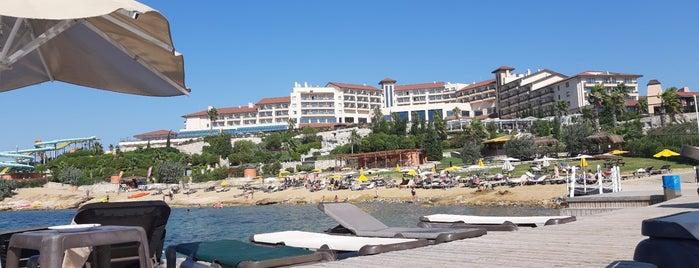 Beach @ Euphoria Aegean Resort & Spa is one of Tempat yang Disukai Gülden.