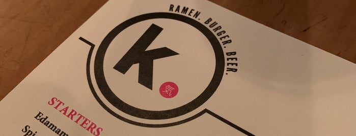 K. Ramen. Burger. Beer. is one of Miami.