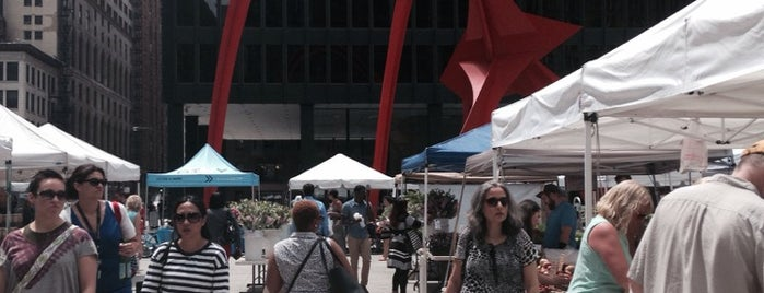 Federal Plaza Farmer's Market is one of Chicago.