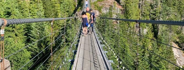 Sky Pilot Suspension Bridge is one of Marie : понравившиеся места.