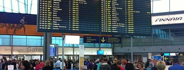 Helsinki Airport (HEL) is one of fi.