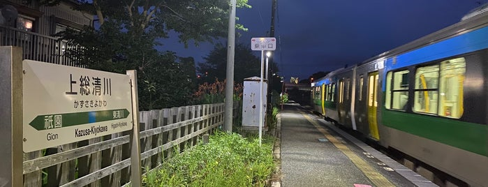 Kazusa-Kiyokawa Station is one of JR 키타칸토지방역 (JR 北関東地方の駅).