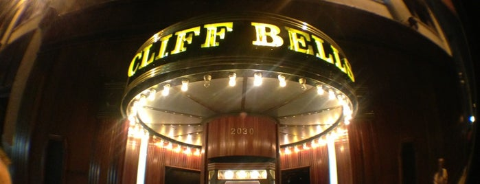 Cliff Bell's is one of Detroit + Ann Arbor.
