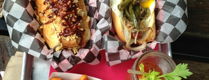 Dog Haus Biergarten is one of The Best Sports Bars in L.A. to Watch Football.