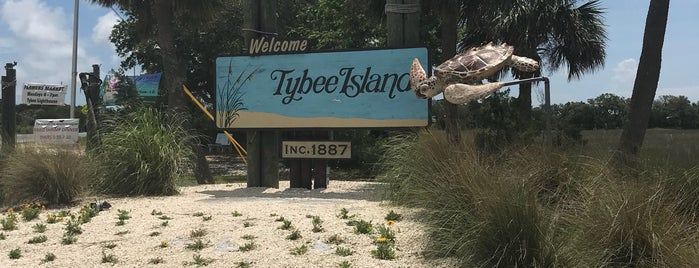 Tybee Island Welcome Sign is one of Kristen's Bachelorette in Savannah!.